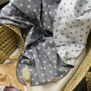 """Decke """"Dots"""" –  mausegrau"""