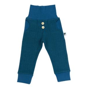 Jacquardhose – Fischgrat – blau