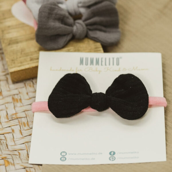Mummelito-Babyschleife-fledermausschwarz (1)