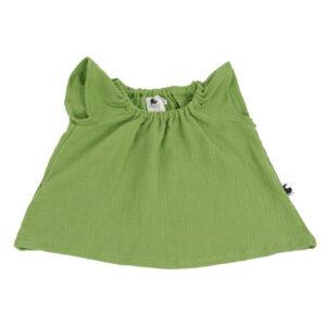 Bluse – Musselin – apfelgrün