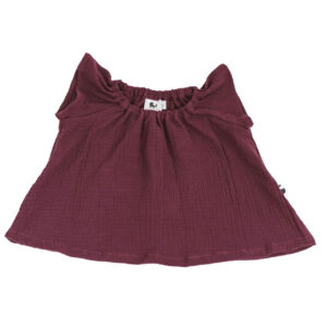 Bluse – Musselin – brombeere