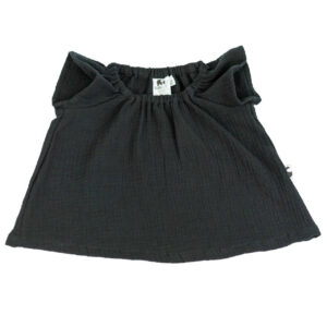 Bluse – Musselin – fledermausschwarz