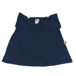 Bluse – Musselin – marineblau