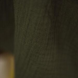Bluse – Musselin – olivgrün