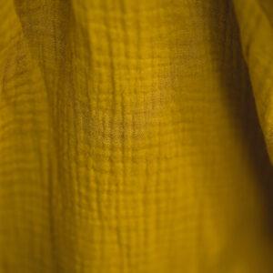 Bluse – Musselin – senfgelb