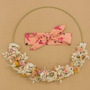 KnotenHaarband – Flamingos – lachsfarben