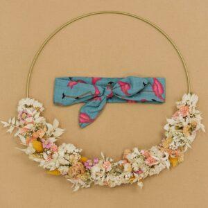 KnotenHaarband – Flamingos – petrol