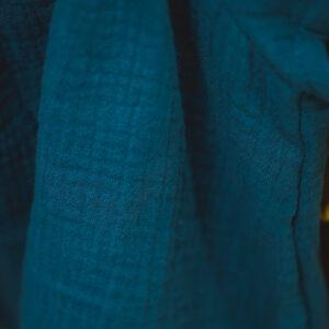 Bonnet – Haube aus Musselin – mitternachtspetrol