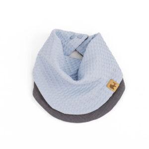 doppellagiges Tuch – himmelblau – rund