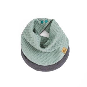 doppellagiges Tuch – meeresgrün – rund