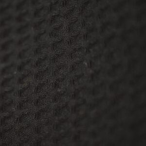 doppellagiges Tuch – fledermausschwarz – rund