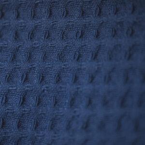 doppellagiges Tuch – jeansblau – rund