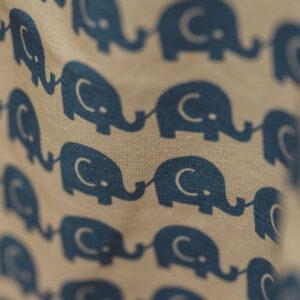 kurzarm Shirt – Elefanten – blau