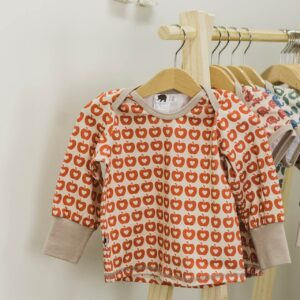 langarm Shirt – Äpfel – rot