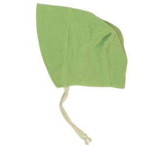 Bonnet – Haube aus Musselin – apfelgrün