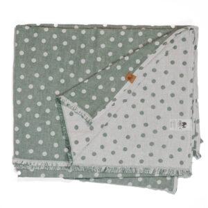 leichte Babydecke – Punkte – meeresgrün