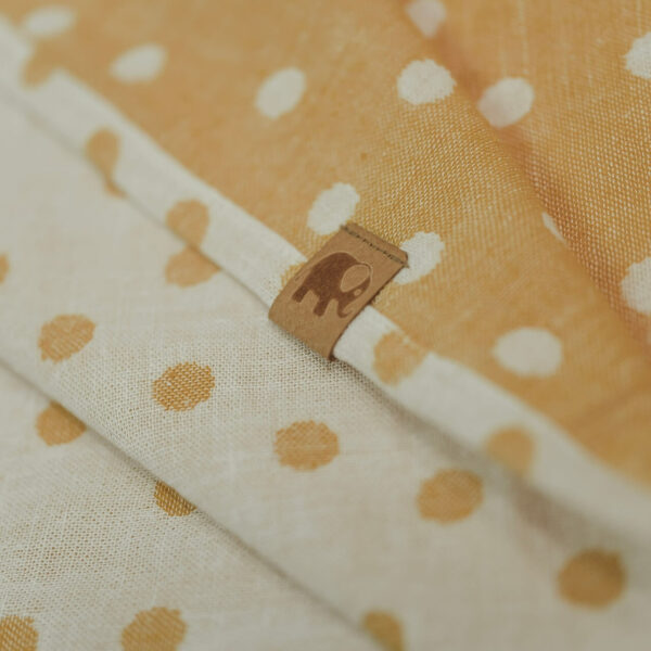 Mummelito-Decke-Punkte-senfgelb (1)