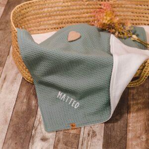 kuschelige Babydecke – meeresgrün