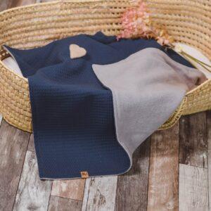 kuschelige Babydecke – jeansblau