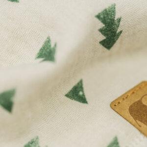 Musselintuch – Dreiecke natur – grün – Kind
