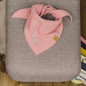 Musselintuch – zuckerwattenrosa – Baby