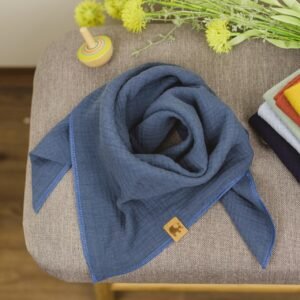 Musselintuch – jeansblau – Kind