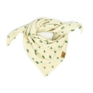 Musselintuch – Dreiecke natur – grün – Baby