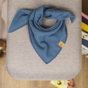 Musselintuch – jeansblau – Baby