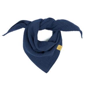 Musselintuch – marineblau – Baby