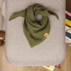 Musselintuch – olivgrün – Baby