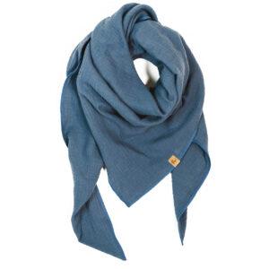 XXL-Musselintuch – dreieckig – jeansblau
