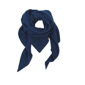XXL-Musselintuch – dreieckig – marineblau