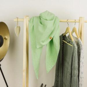 XXL-Musselintuch – dreieckig – waldmeistergrün