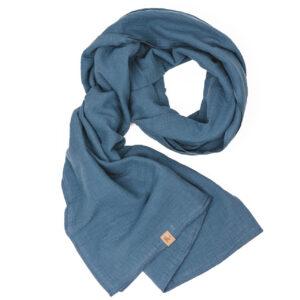 XXL-Musselintuch – viereckig – jeansblau