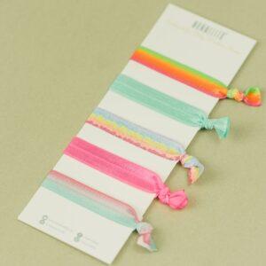 Haargummi-Set – Einhorn Farbverlauf