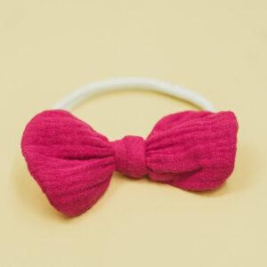 Babyschleife – bonbonpink Musselin