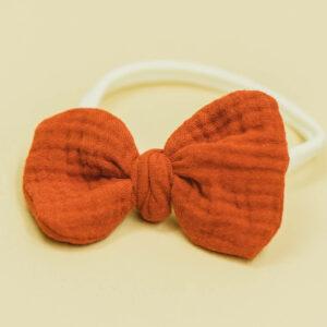 Babyschleife – rostorange Musselin