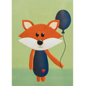 Kinderzimmerbild – Fuchs – DIN A4