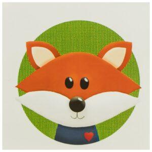 Kinderzimmerbild – Fuchs – quadratisch