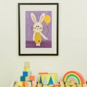 Kinderzimmerbild – Hase – DIN A4