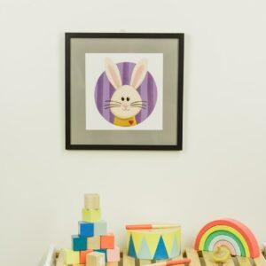 Kinderzimmerbild – Hase – quadratisch