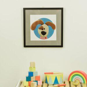 Kinderzimmerbild – Hund – quadratisch