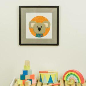 Kinderzimmerbild – Koala – quadratisch