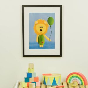 Kinderzimmerbild – Löwe – DIN A4