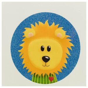 Kinderzimmerbild – Löwe – quadratisch