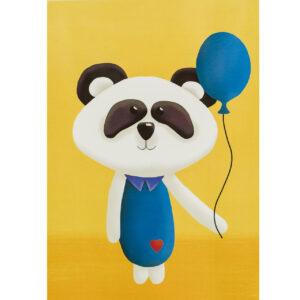 Kinderzimmerbild – Panda – DIN A4