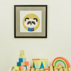 Kinderzimmerbild – Panda – quadratisch