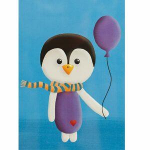 Kinderzimmerbild – Pinguin – DIN A4