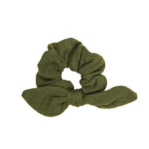 SchleifenScrunchie – olivgrün