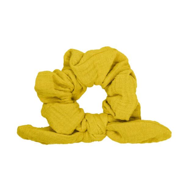 Mummelito-SchleifenScrunchie-senfgelb (3)